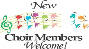 choir members welcome